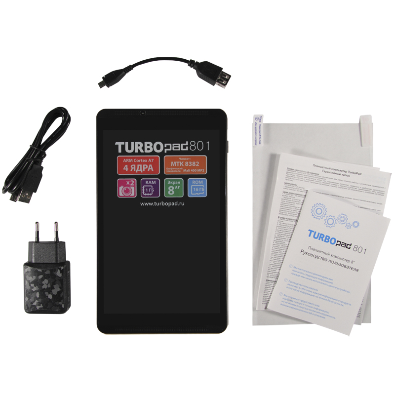 Вышел новый стильный планшет TurboPad 801